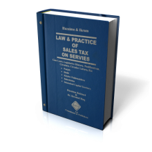 LAW & PRACTICE OF SALES TAX ON SERVICES (WITH UPDATING SERVICE )